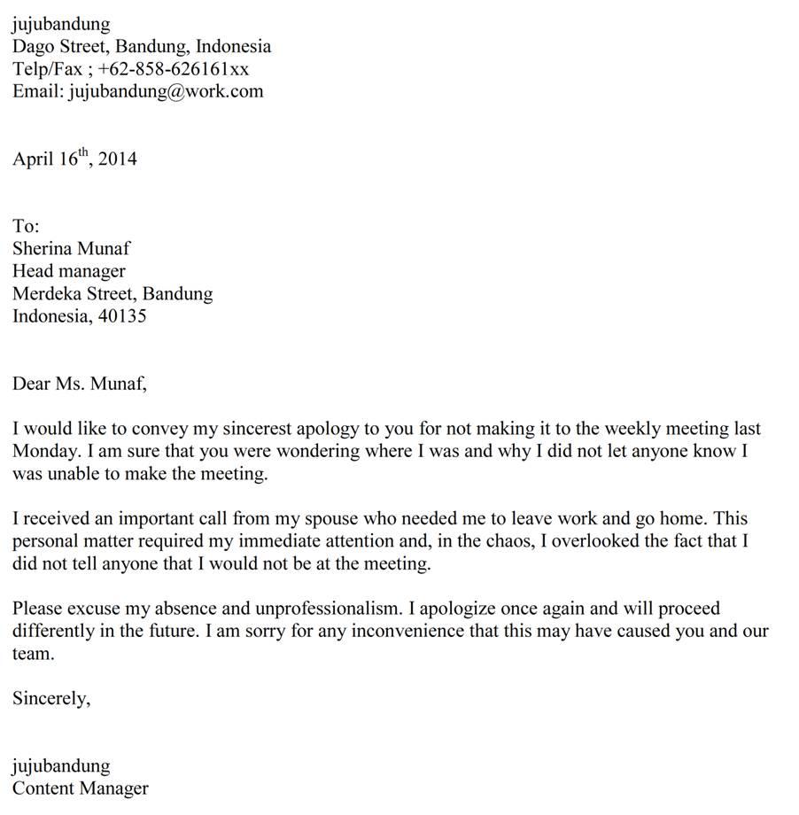 Contoh Surat Pribadi Permohonan Maaf Kepada Guru