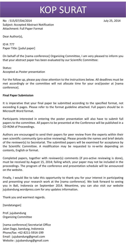 Surat Abstrak Diterima Bahasa Inggris C1
