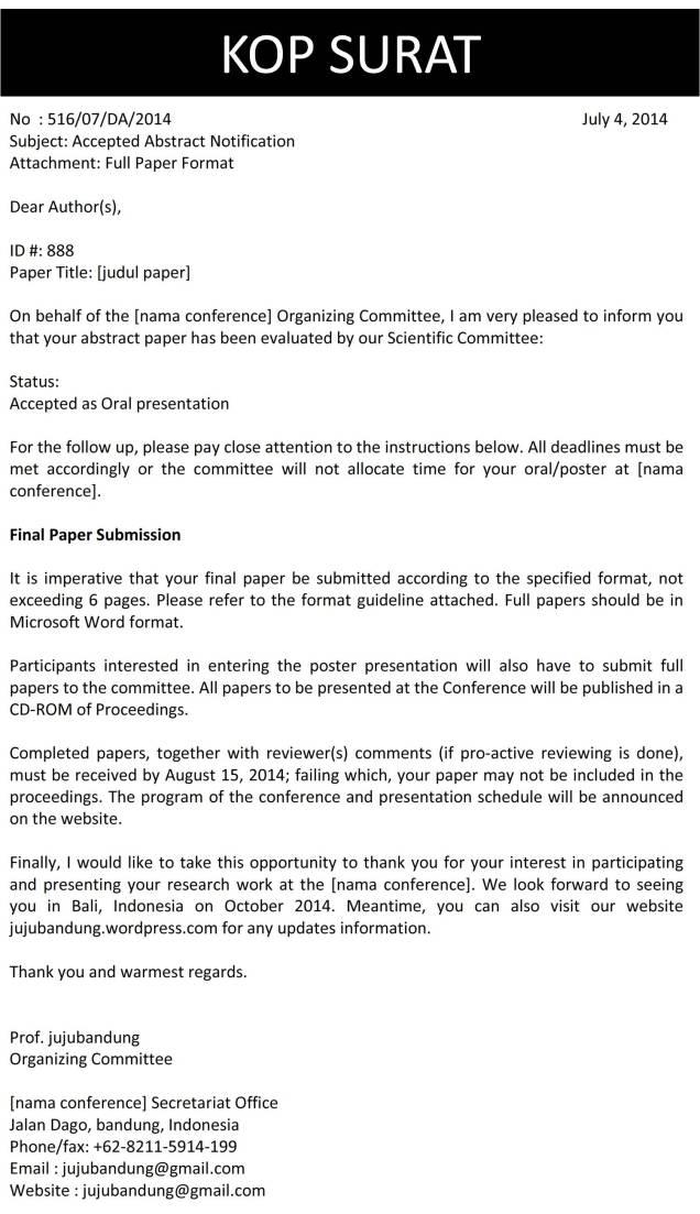 Surat Abstrak Diterima Bahasa Inggris C2
