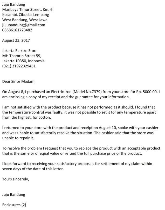 surat complaint barang 5b
