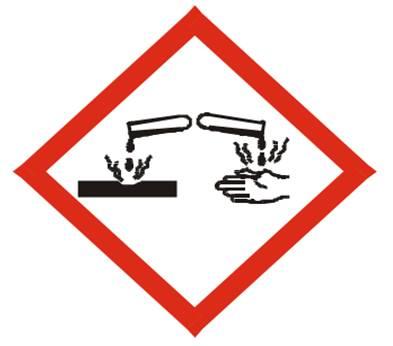 Gambar 7 : Simbol B3 klasifikasi bersifat korosif (corrosive)