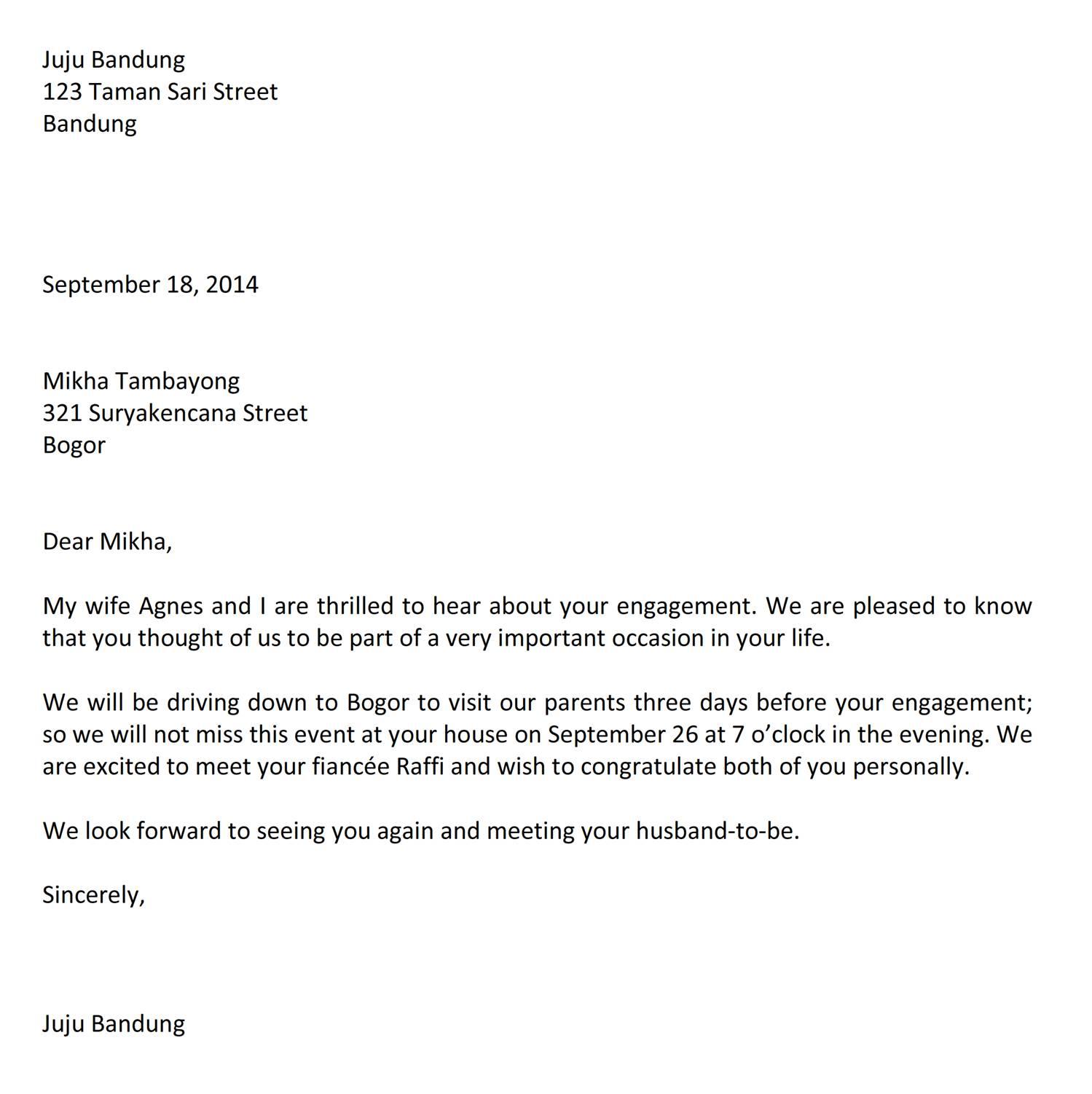 Surat Menjawab Undangan Bahasa Inggris Jujubandung